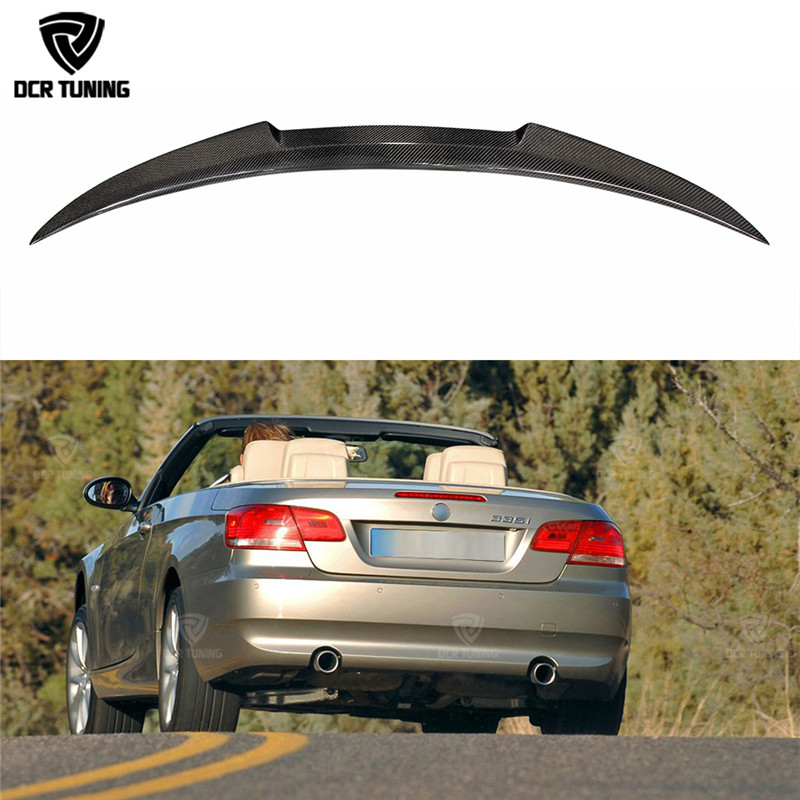 M4 Style For BMW 3 Series E93 325i 328i 330i 335i 2-Door Convertible E93 M3 Carbon Fiber Rear Trunk Spoiler 2007 - 2013 for bmw e36 318i 323i 325i 328i m3 carbon fiber headlight eyebrows eyelids 1992 1998