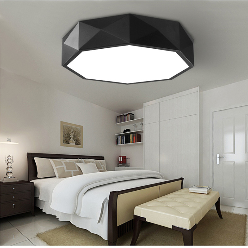 Nordic Creative circle Geometry Art LED Ceiling Bedroom Individuality Study Restaurant Lamps Living Room Light led creative personality retro hotel the living room ceiling lamps restaurant study bedroom iron art hanging lighting zcl