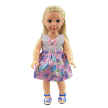cute Dress for 18 inch Doll-My Little Baby Accessories fit 18/42-46cm american/life/generation doll-cute Toys Girls Gifts