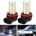 2 Pçs/lote LED Faróis Do Carro/DRL/Fog Lâmpadas 6500 K H11 800LM 5630 33SND Externo Luzes Diurnas carro-styling