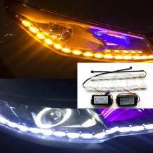 1pair 30/45/60CM DRL Car Light Assembly car Daytime car Running Light Flowing Slim Turn Signal Light Angel Eyes Car LED Strip custom crystal light angel eyes smd led headlights pipeline light running light drl one set