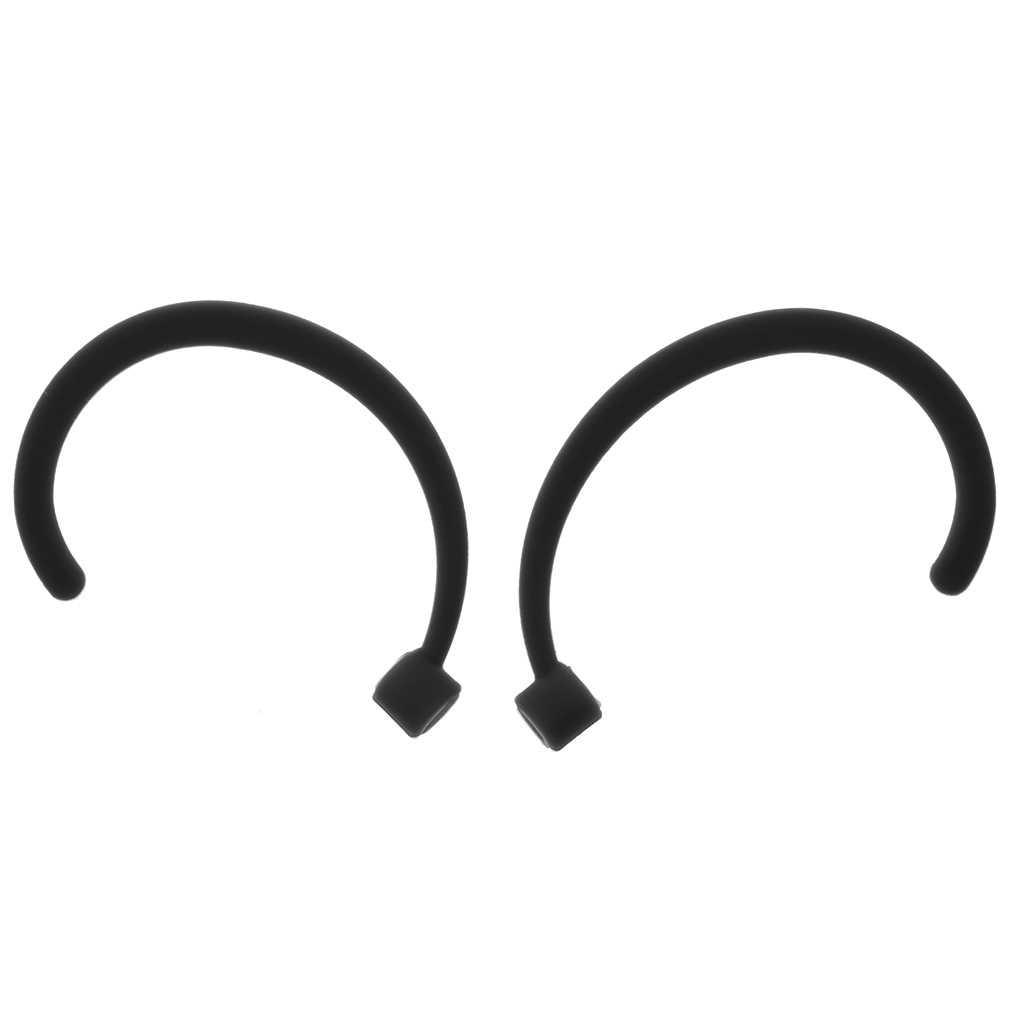 1 para żel silikonowy Anti-lost zaczep na ucho powiesić zaczep na ucho uchwyt dla iPhone 7 7Plus 8 8Plus X słuchawki douszne w lewo i w prawo