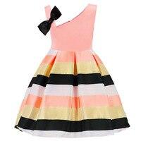 2018 Syue Moon Summer Kids Bow Stripe Girls Dress For Girls Princess Dress Baby Girls Party