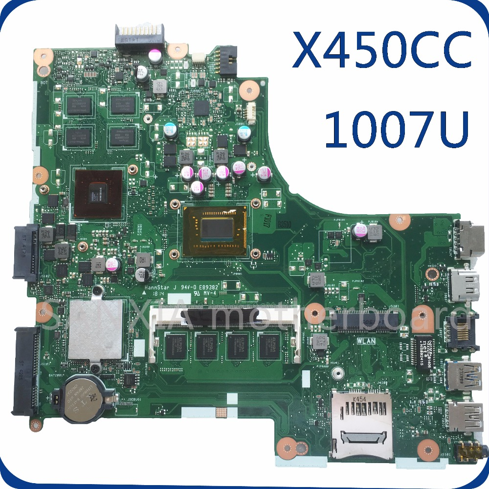 SHELI X450CC original motherboard tested for ASUS X450CC 1007U laptop motherboard tested mainboard eee pc 1225b motherboard for asus laptop mainboard fully tested