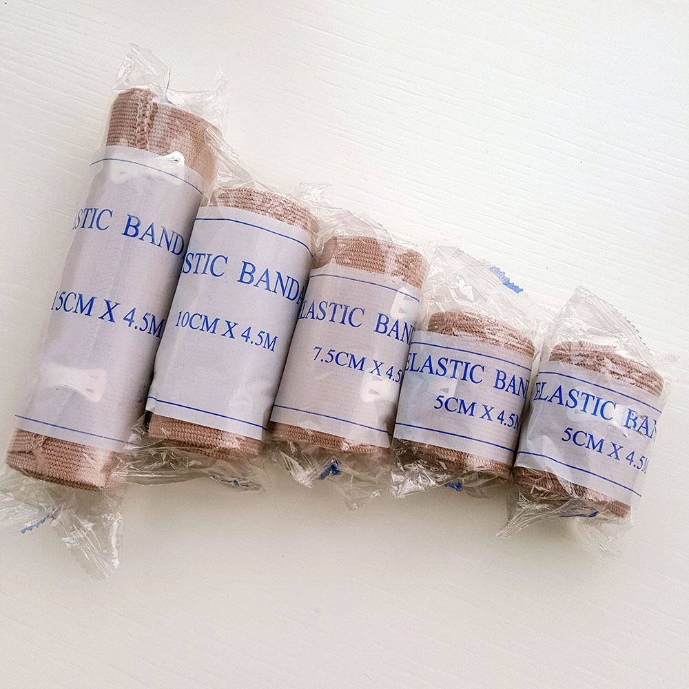 5 Rolls Mixed Size  High Elastic Bandage Wound Dressing Outdoor Sports Sprain Treatment Bandage For First Aid Kits Accessories