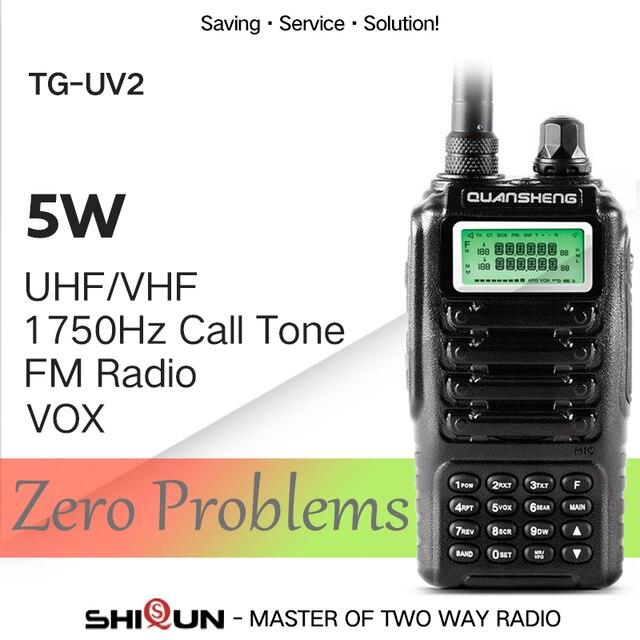 Высокое качество QUANSHENG TG-UV2 радиолюбителей Dual Band 5 Вт QUANSHENG TG UV2 УКВ мощный портативной рации с FCC CE Сертификация