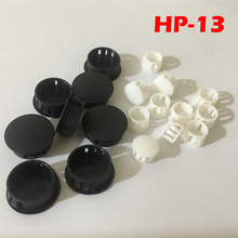 60pcs HP-13 13MM Diameter Black White Nylon Plastic End Cap Grommet Push Locking Button Cover Panel Drill Hole Plug