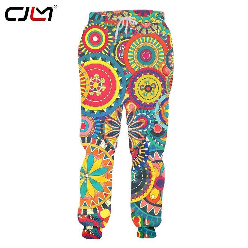 CJLM Full Body Print  Colorful Leaf Eye Camouflage  Sweatpants Men 3D Streetwear Mens Hip Hop Fashion Pants Drop Shipping