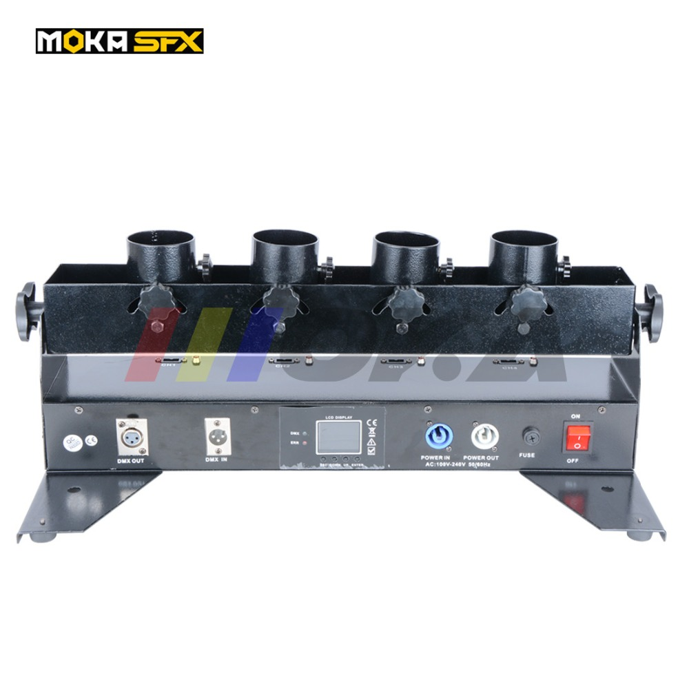 8Pcs/Lot Confetti Blower Machine DMX 512 Confetti Making Machine With Four Heads For Wedding Party