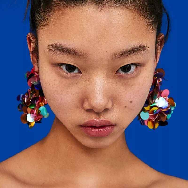 GEREIT Handmade Big Flower Korean Earrings Fringing Sequins Druzy Earrings For Women Statement Dangle Drop Earrings Boho Jewelry