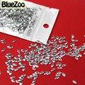 BlueZoo Novo 1000 unidades/pacote de Prata Oval Forma Prego Decoração Metal Para DIY Dicas de Decoração
