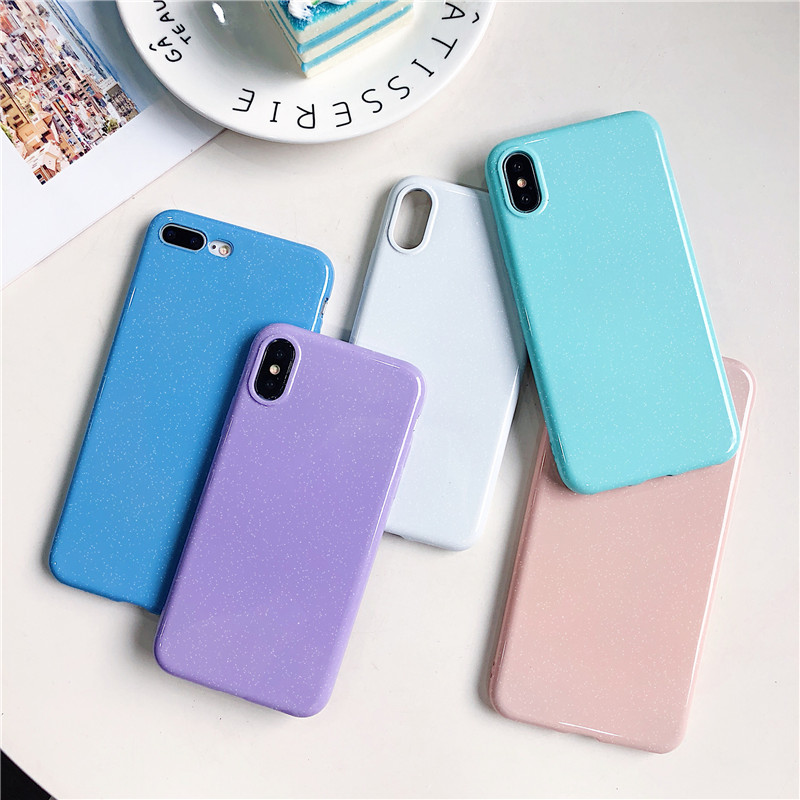 Silicone Glitter Powder TPU Soft Candy Color Cover Phone Case For Huawei Nova2i 3 3i 3e P8 P10 P20 Pro Lite 2017 Mate 10 20 Lite image