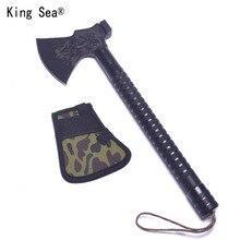 King Sea Outdoor Dismountable Camping Axe Aluminium Alloy Folding Tomahawk Axe Multifunctional Survival Hatchet with Knife