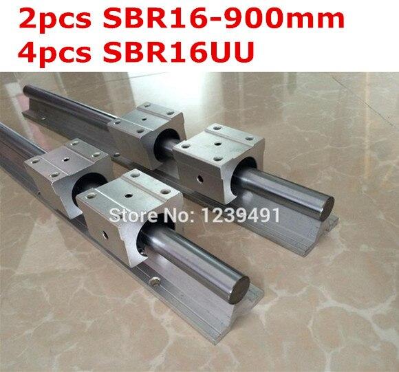 2pcs SBR16  - 900mm linear guide + 4pcs SBR16UU block cnc router 2pcs sbr16 l1000mm linear guide 4pcs sbr16uu block cnc router