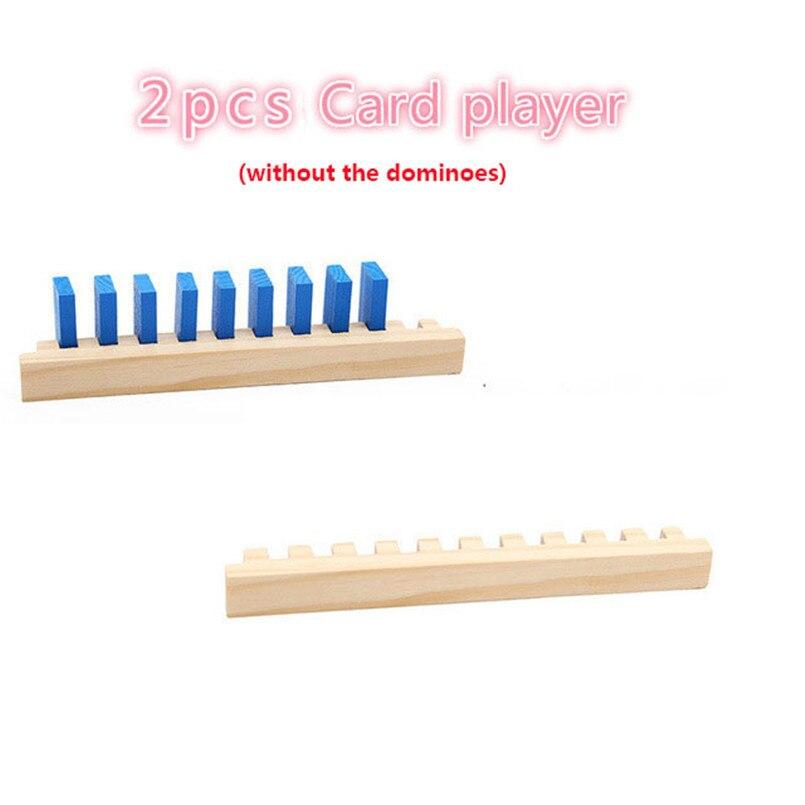 Деревянные цветные домино аксессуары для настольной игры домино блоки Радужный пазл домино Монтессори Развивающие игрушки для мальчиков - Цвет: 2pcs card palayer