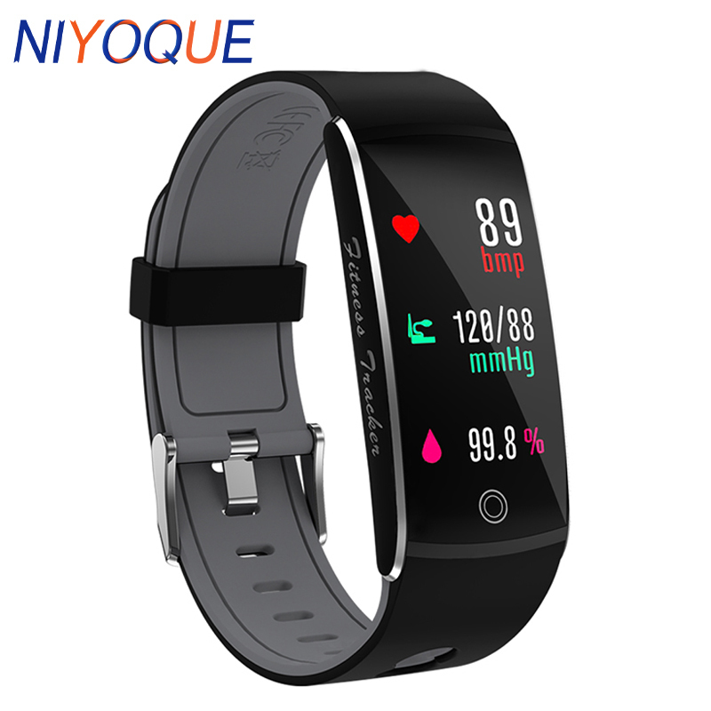 NIYOQUE Smart Wristbands F10 OLED Color Screen IP68 Waterproof Swim Heart Rate Monitor Bluetooth Smart Band