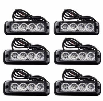 08002 new video 12v Universal 6X4LED Quality Truck Emergency Beacon Light Bar Hazard Strobe Warning Universal fit for SUV Trucks