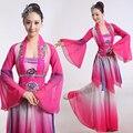 Mujer ropa de danza Clásica Hanfu Bordado Chino antiguo traje de la danza de hadas poética del ventilador/tambor/paraguas danza disfraces