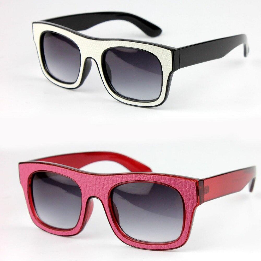 JIE.B New 2016 Sunglasses For Women Men Leather Glasses ...