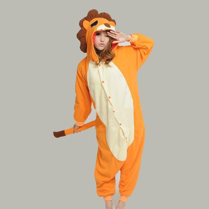 7cd98fb5a NEW Adult Men Lion Onesies Cosplay Costumes Polar fleece Cartoon ...