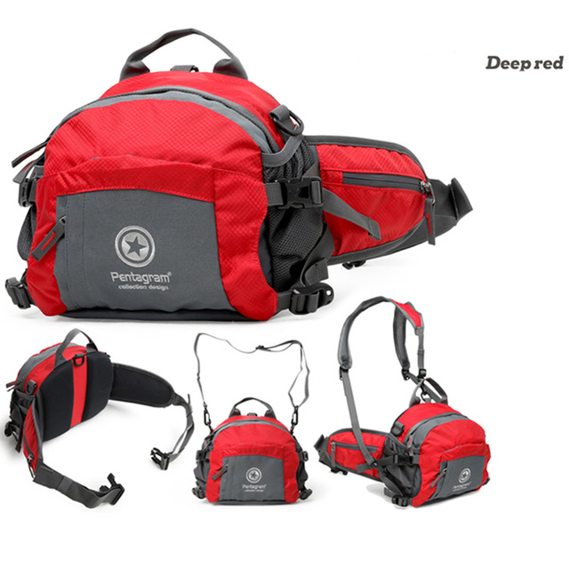 Waterproof Cycling Waist Bag Sports Shoulder Bags Hiking Mini Backpack Red