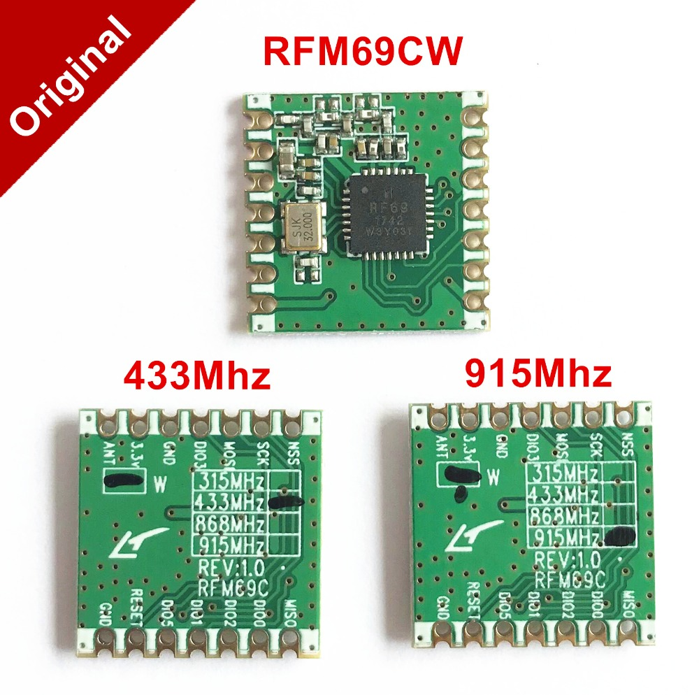 RFM69CW-433 2-PCS RFM69CW HopeRF IOT Wireless Transceiver