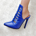 Women Shoes Summer Fashion Pumps Pointed Toe High Heels Blue Pumps EU34-43 Large Size Shoes Women
