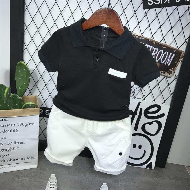 Летняя детская одежда Комплект детской одежды для мальчиков Одежда для маленьких мальчиков модная детская одежда; 2-6years детская футболка для мальчиков с короткими рукавами + шорты 2 предмета в комплекте