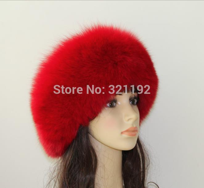 Female Male Winter Plus Size Thickening Skullies Beanies Fox Fur Hats Woman Man Warm Bombers Fox Fur Caps