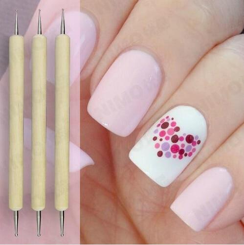 Aliexpress.com : Buy 3pcs 2 Way Nail Art Dotting Tools