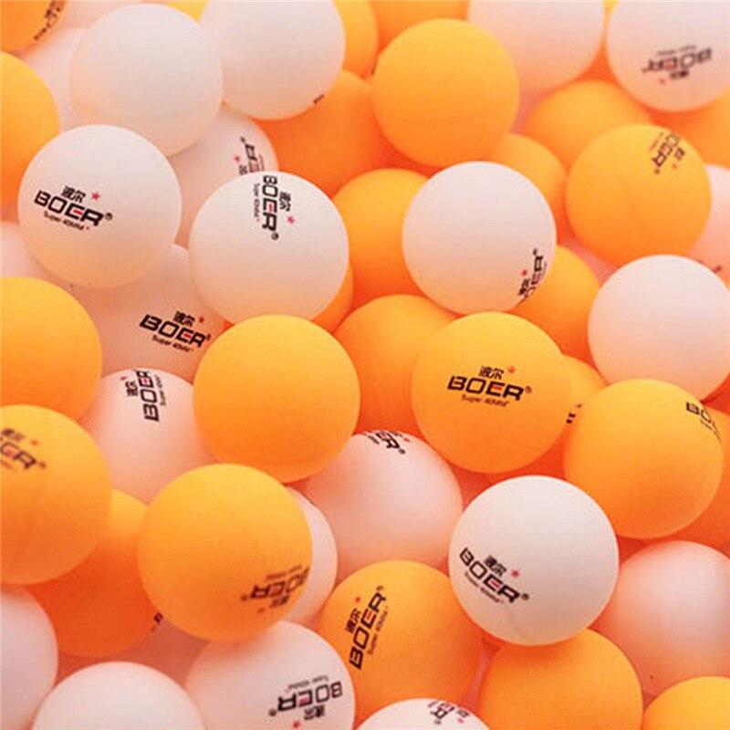 BOER Marque 150 Pcs Tennis De Table Professionnel Balle de Ping-Pong Balles 2.8G Pratique Standar 40mm pour Loisirs et Match Blanc Jaune