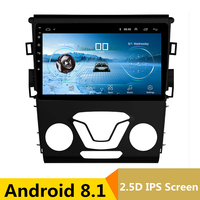 9 Android 8.1 Car DVD Multimedia Player GPS For Ford Mondeo Fusion 2013 2014 audio car radio stereo navigator bluetooth wifi