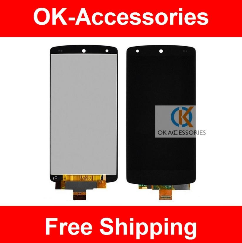 Black Color 1PC/Lot  For LG Google Nexus 5 D820 D821 LCD+Touch Screen Digitizer Assembly  Free Shipping new lcd touch screen digitizer with frame assembly for lg google nexus 5 d820 d821 free shipping
