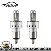 AutoLeader 7S H4 H7 Led Car Headlight Automobiles LED Bulb XHP 50 40W 8000LM H1 H11 9005 9006 Car Styling 6500k DC12 24V