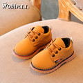 WOBIPULL 2017 kids shoes Boys girl Martin leather shoes Retro British style lacing with small shoes baby four seasons sneakers