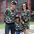 Matching Family Clothing Dress 2016 Spring Autumn Family Look Matching Mother Daughter Father Son Camouflage  Long Sleeve Shirt