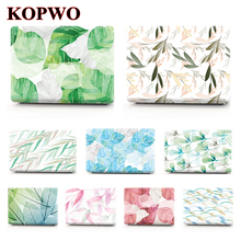 KOPWO Leaf Laptop Protective Case for Apple Macbook New Air Pro 11 12 13 15 Inch Notebook Replace Cover for A1990 A1398 A1708