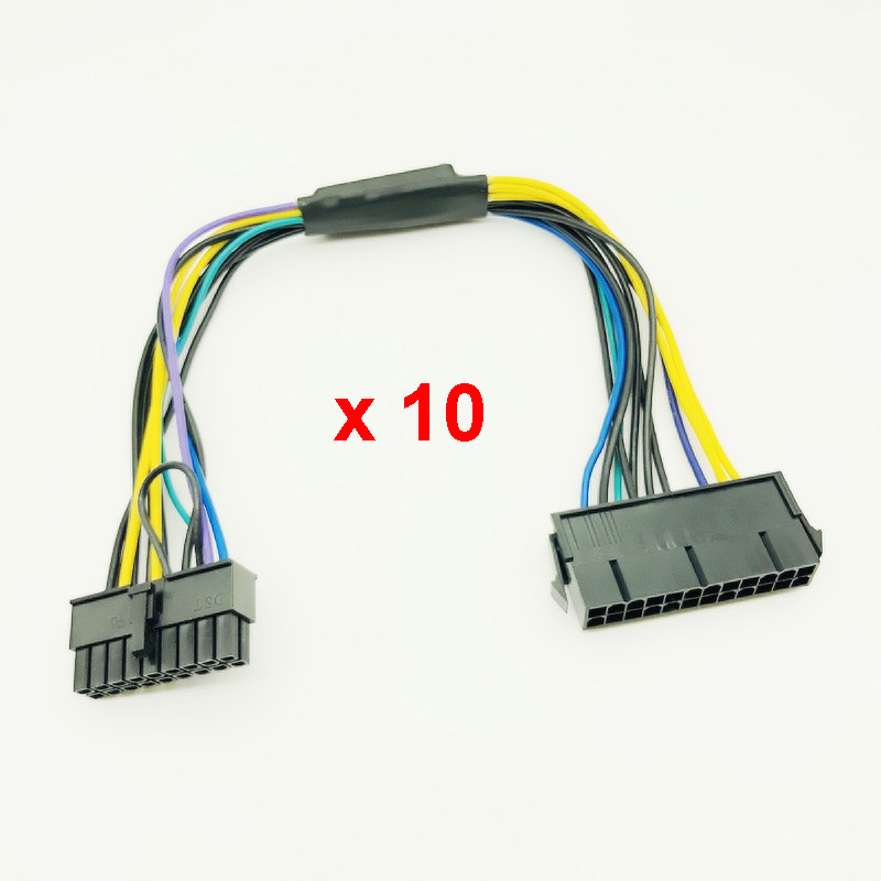 2PCS ATX PSU 24Pin to 18Pin power supply cable 18AWG Fit For HP z620//420