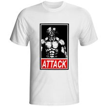 Attack On Titan T Shirt Gaint Rock Fashion Brand T-shirt Print Design Style Unisex Tee