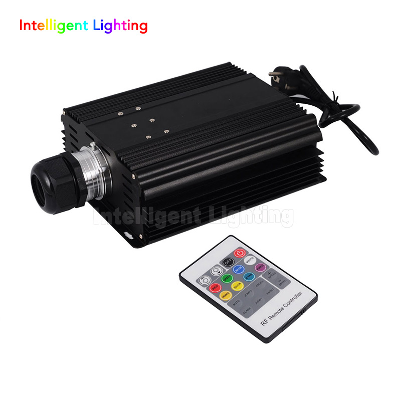 RGB 45W LED Fiber Optic Engine 20key RF Remote controller, can be fixed in 8 colors Six color change mode, with flicker effect 45w music sound controlled led rgb optical fiber light engine with 20key remote