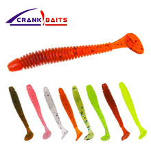 CRANK BAITS 10pcs Easy Shiner Soft Lure 45m 0.7gSwimbaits Silicone Fishing Lure Artificial Bait Carp Fishing Ocean Fish(China)