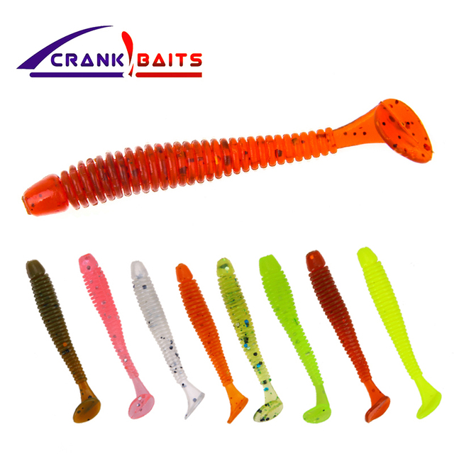 CRANK BAITS 1pcs Easy Shiner Soft Lure 45mm0.3/0.7gSwimbaits Silicone Fishing Lure Artificial Bait Carp Fishing Ocean Fish Peach