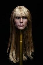 1/6 Женская фигура куклы форма головы для 12 «фигурку куклы аксессуары Железный Человек Пеппер Поттс глава резные, не включают в себя другие