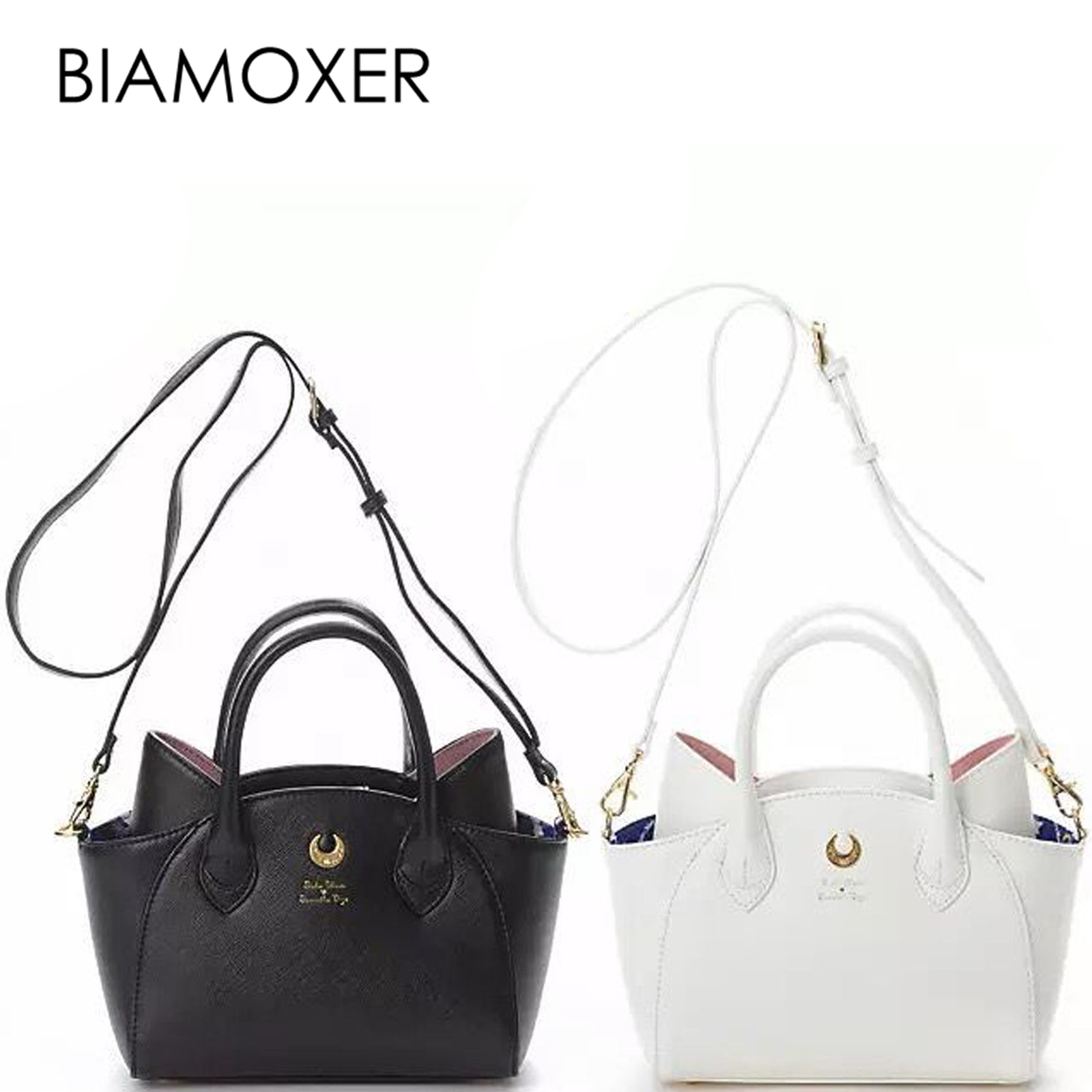 Biamoxer 2 colors 2 size Sailor Moon Luna Cat Women Handbag Handle Corssbody Shoulder Bag Free Pendant