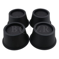 BQLZR 4piece 2 75 High Plastic Black Furniture Lift Mats Bed Riser Homewares Heavy Duty Create