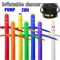 20ft/6m Wind Dancer Tube Man Cartoon Inflatable Dancing Air Puppet Out Door Air Sky Dancing Man For Advertising
