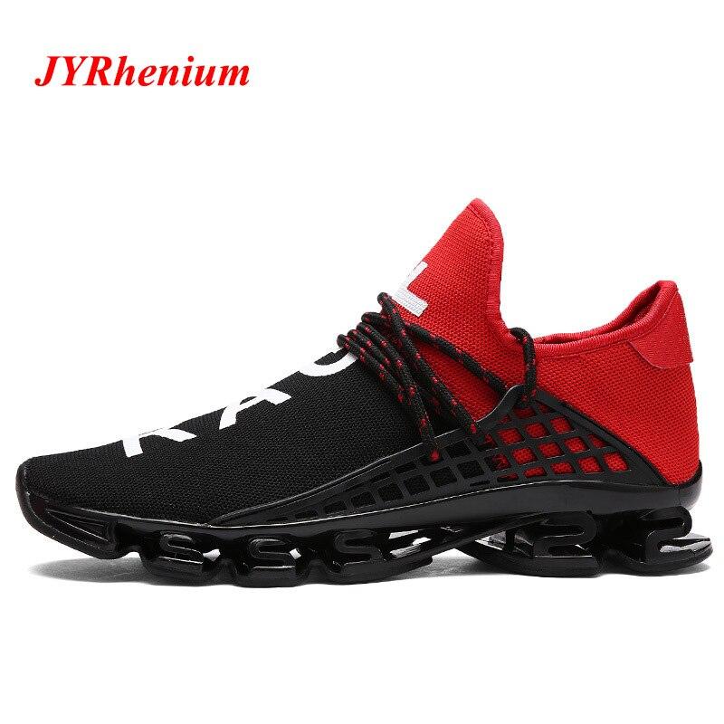 JYRhenium Men's Sport Running Shoes Lace-up Exercise Couple Sneakers Breathable Mesh Letter Shoes Size 36-48 Sneakers for Men цена