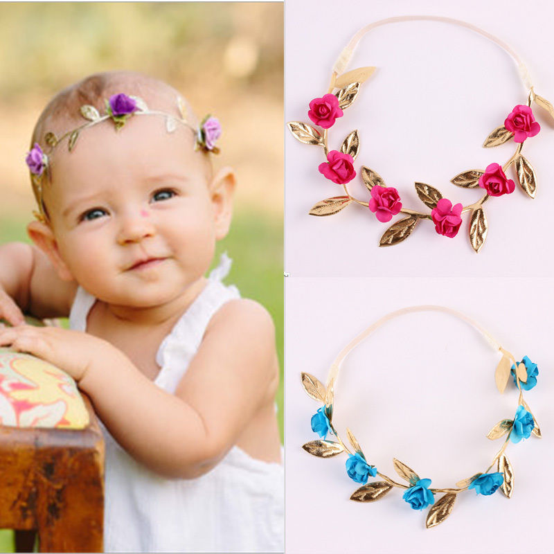 3f645b96507 Detail Feedback Questions about 4 Colors Rose Flower Head band Headwear  Infant Baby Kids Girls Hair Accessories on Aliexpress.com