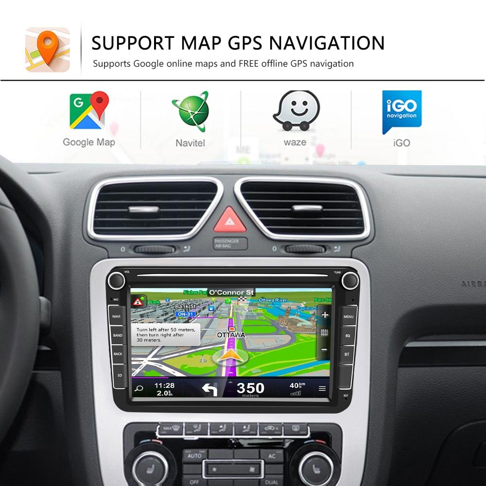 Camecho Android 8.1 MP5 Multimedia Player Car Radios GPS 8inch Audio Stereo For Seat/Skoda/Passat/Golf/Polo Bluetooth Auto Radio