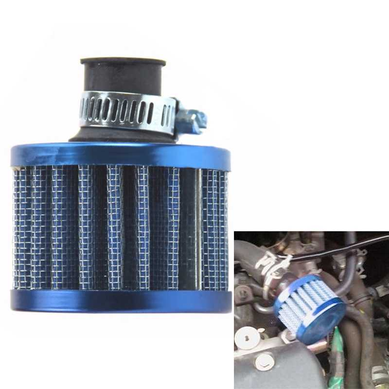 VODOOL Car Air Intake Filtro 12mm Blu Mini Motor Car Alta flusso di Aria Fredda di Aspirazione Filtro Turbo Vent Crank Auto Filter Cleaner